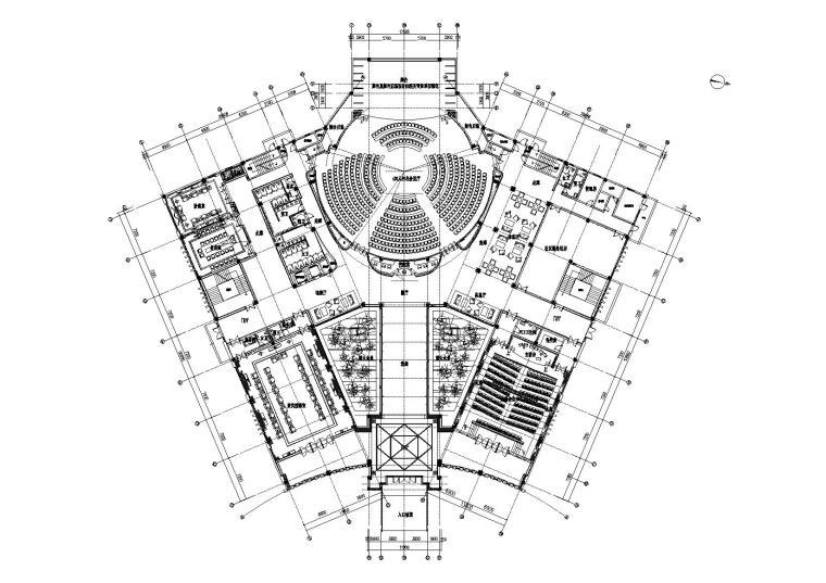 [江西]大院设计_永联村物业管理用房施工图