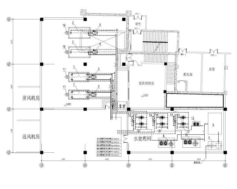 两台4T、两台5T供暖锅炉房热力系统设计图