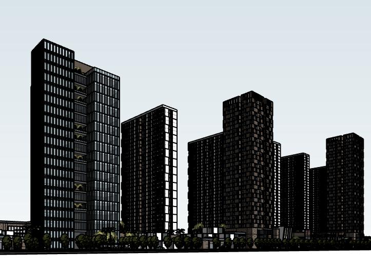 高层商业住宅建筑模型设计