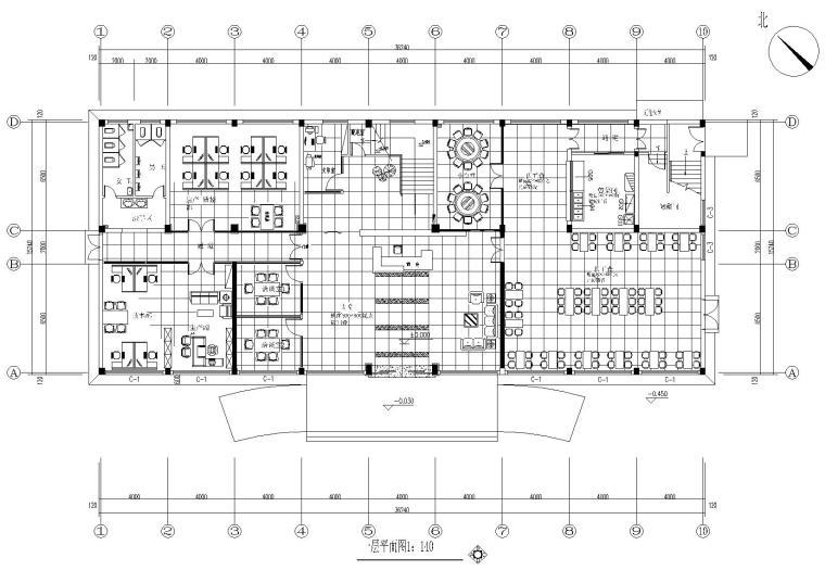 [浙江]力洋鸣数控办公楼室内装饰工程施工图