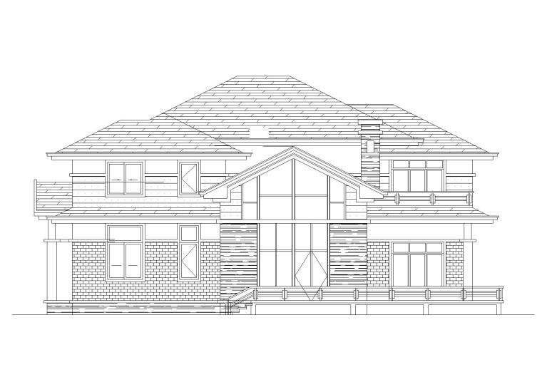 框架结构独栋别墅建筑施工图