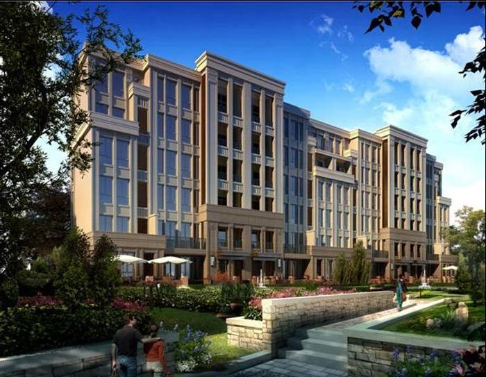 城叠拼洋房新古典风格建筑设计