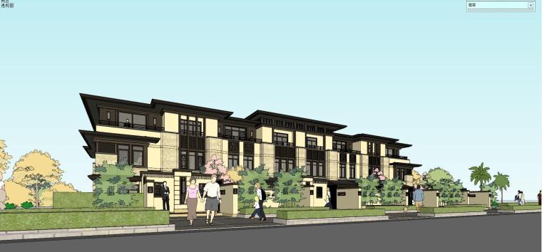 旭辉·御府新中式风格别墅建筑模型设计
