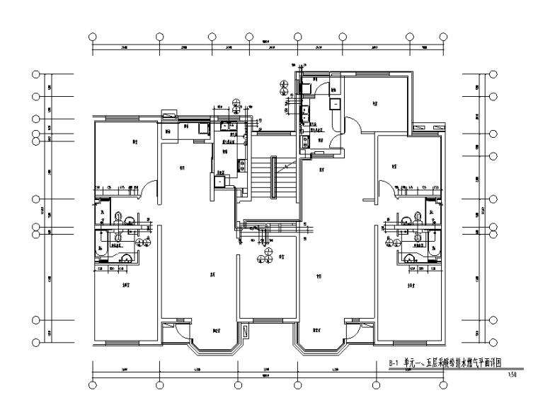 七层住宅楼采暖给排水燃气施工图