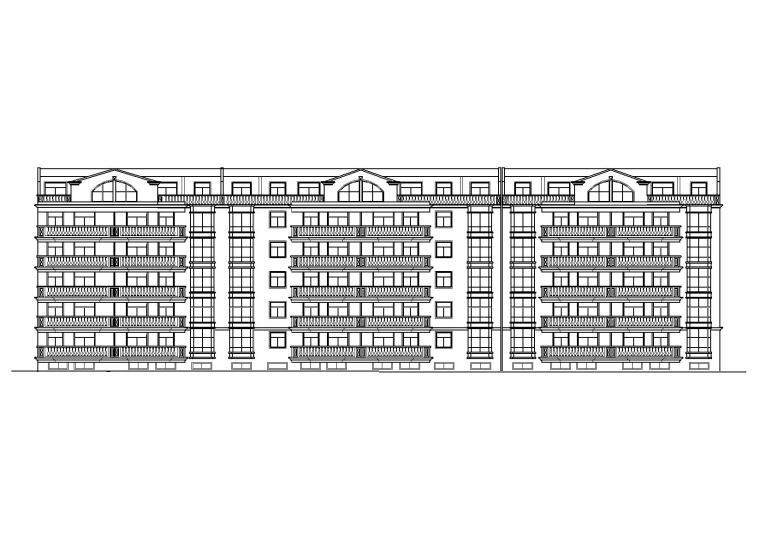 多层一梯两户四室两厅两卫住宅建筑施工图