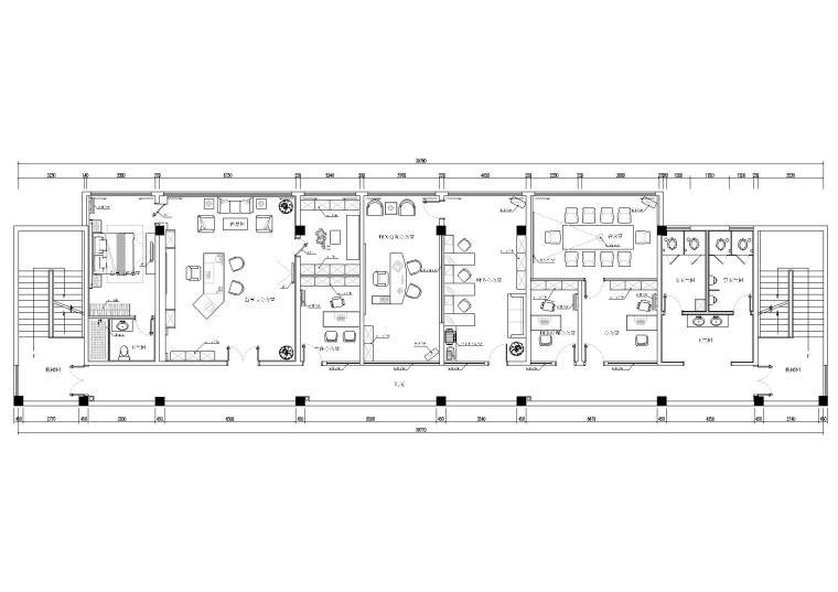 [南京]中外建工-联润办公室装修设计施工图