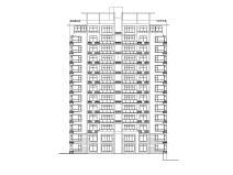 小高层一梯两户四室两厅两卫居住建筑施工图