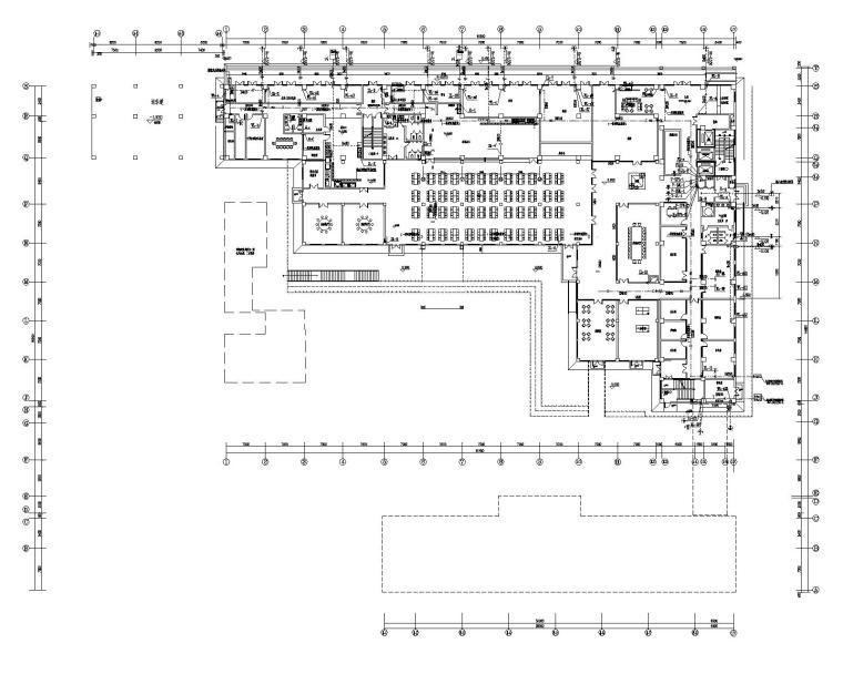 老年公寓一层给排水、消防平面图