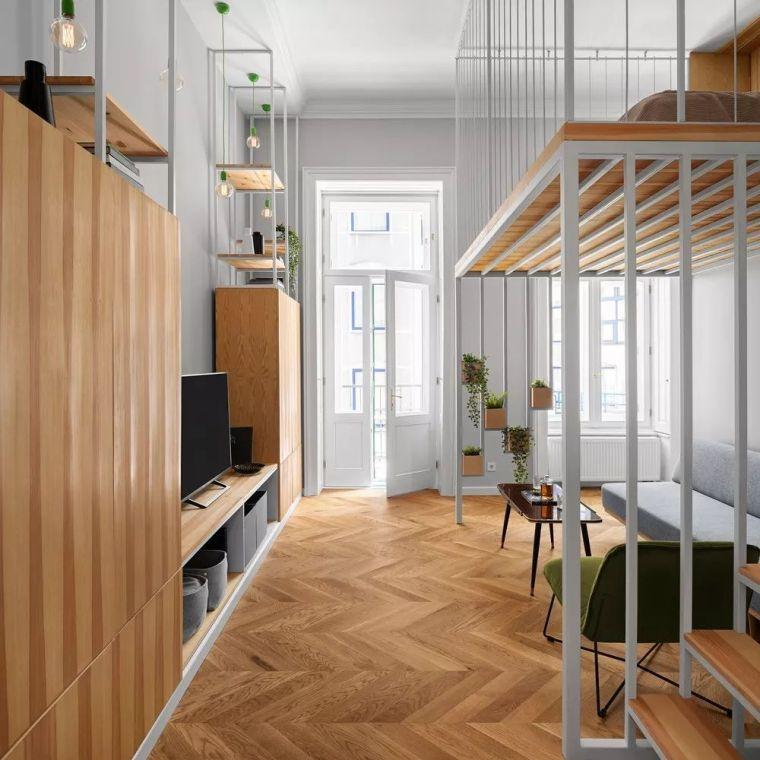 61 ㎡的LOFT,卧室这样设计好看又省空间