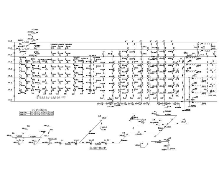 护理院自喷、给排水系统干管原理图