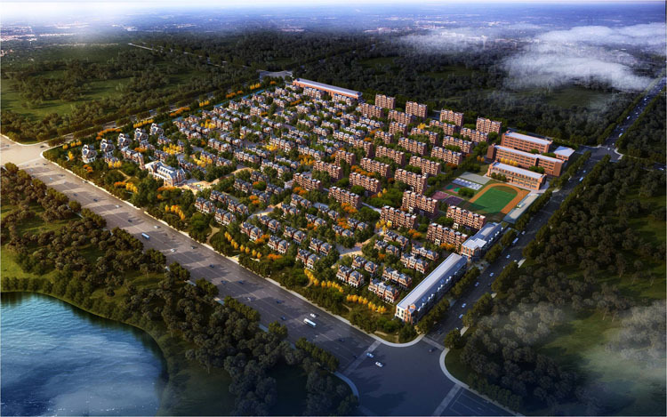 [安徽]旭辉湖山源著英式风格示范区建筑模型