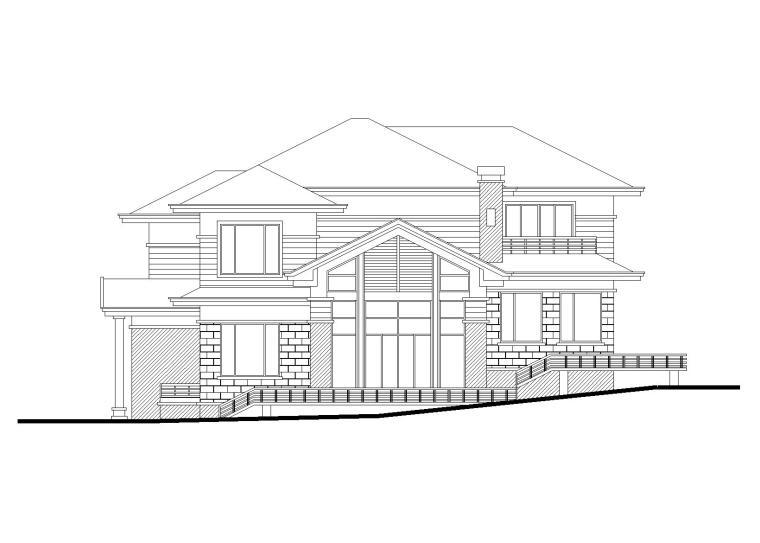 平坡屋頂獨棟別墅建筑施工圖