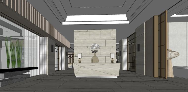 旭辉现代风格售楼处室内设计