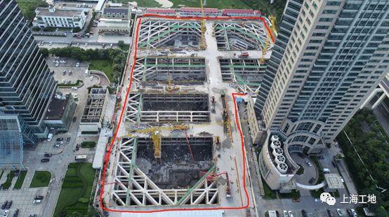 被高楼高架浅基础'重围'的超大深基坑工程_4