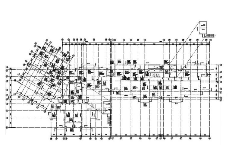 1栋屋面层梁配筋图
