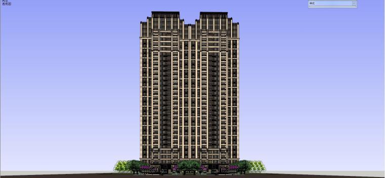 新古典风格高层建筑模型设计