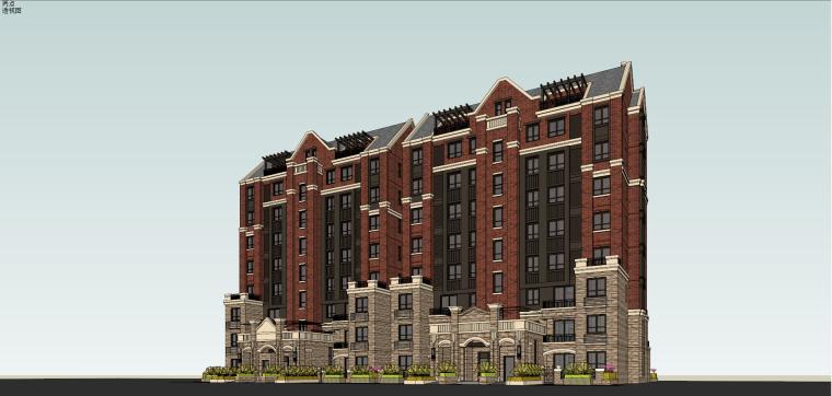 上海旭辉·亚瑟郡住宅建筑模型设计