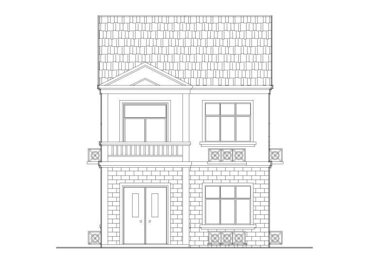 乡村私家舒适型二层住宅楼建筑施工图