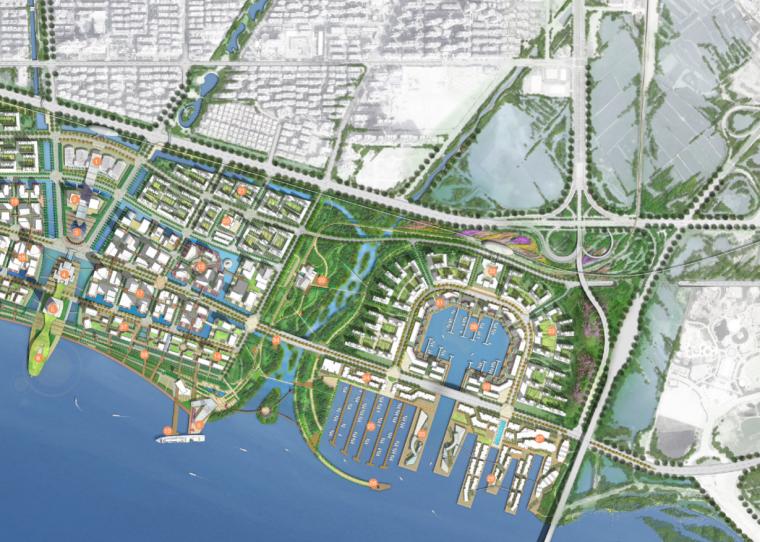 [广东]珠港新城滨水绿色开放城市设计文本