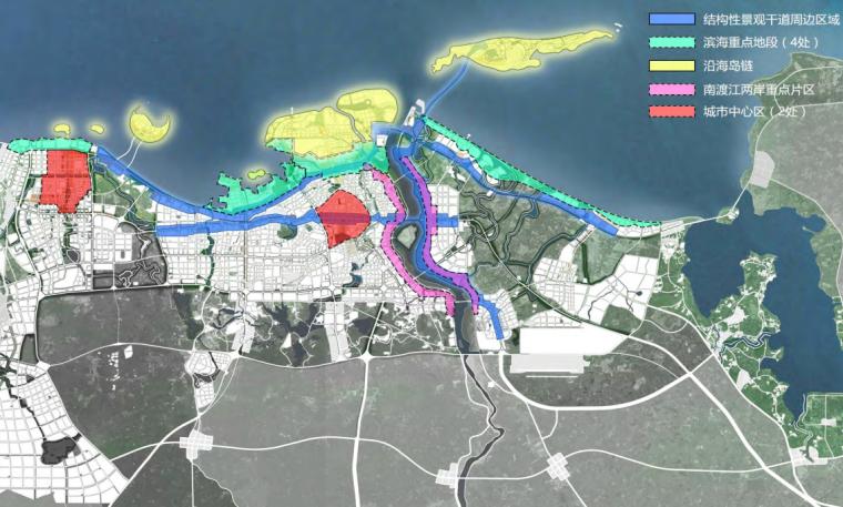 海口总体城市设计研究报告城市重点项目分布