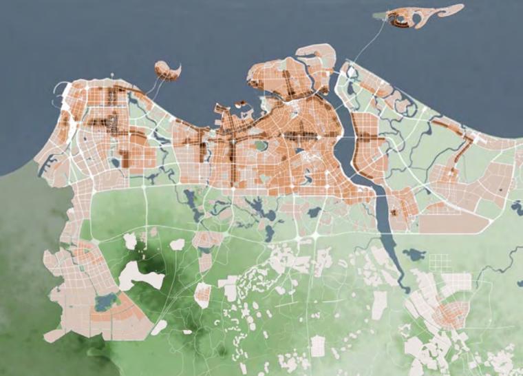 海口总体城市设计研究报告高度分区控制图