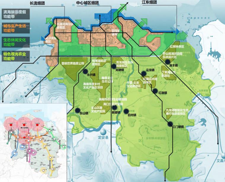 海口总体城市设计研究报告空间结构规划