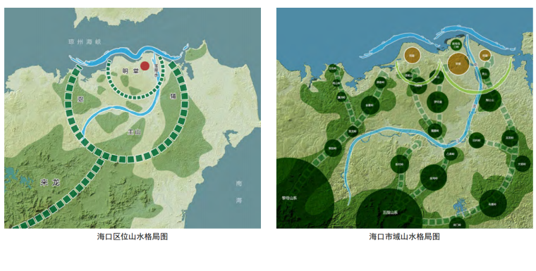 海口总体城市设计研究报告山水格局图