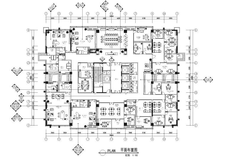 [重庆]某大厦办公室装饰工程全套施工图
