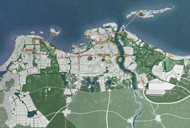 海口总体城市设计研究报告主城区示意图