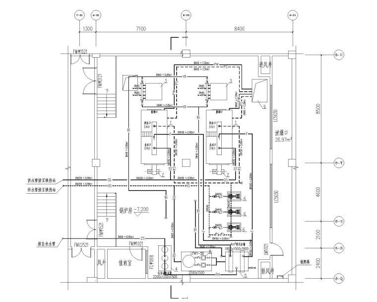 燃气常压热水锅炉房设计施工图