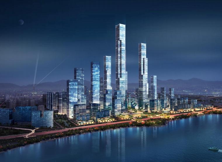 [广东]深圳湾超级总部基地云城市中心设计图