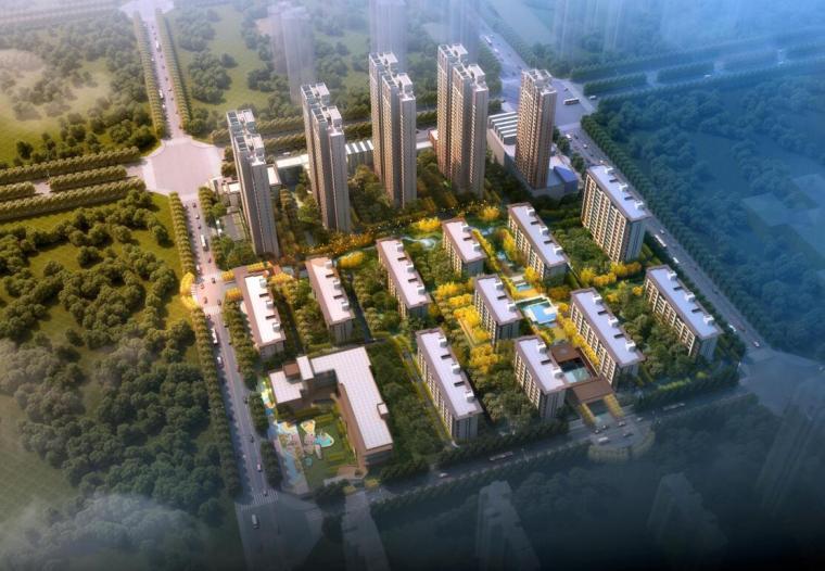[陕西]新亚洲风格高层+洋房住宅建筑方案