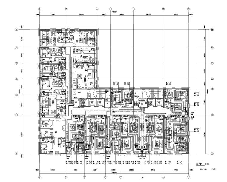 河北盛恒时代项目二十二层住宅暖通设计图