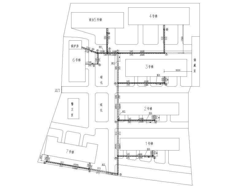 室外热力管网改造施工图