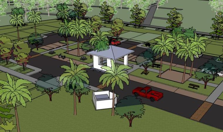 住宅居住区景观设计精细SU模型25个
