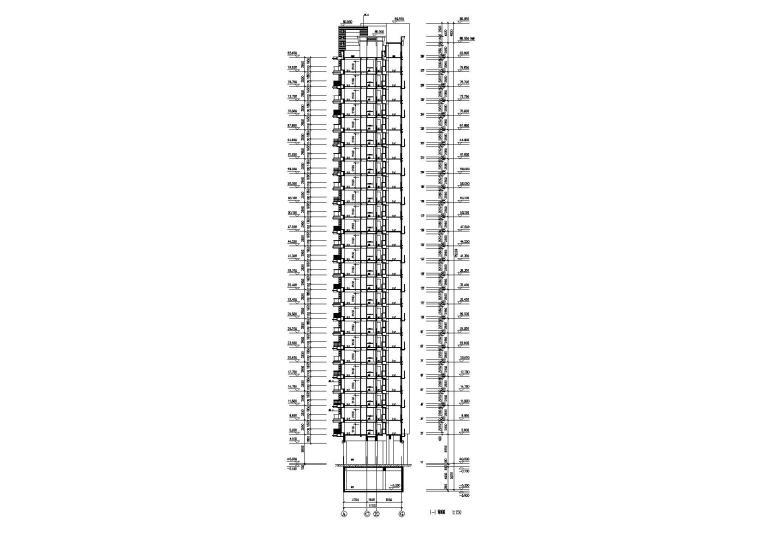 07L型底商高层复式住宅楼建筑设计剖面图