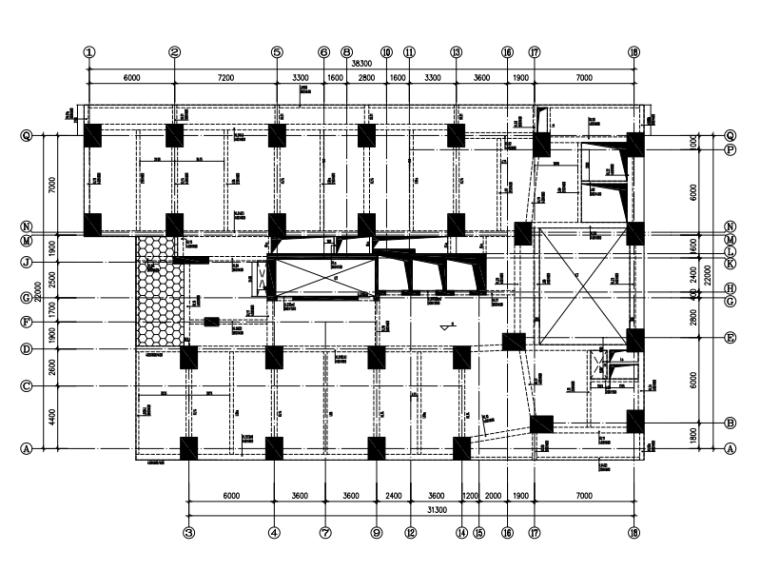 框支剪力墙住宅楼结构施工图(旋挖灌注桩)