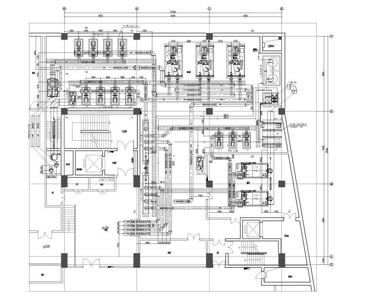 空调冷热源机房及相关暖通设计施工图