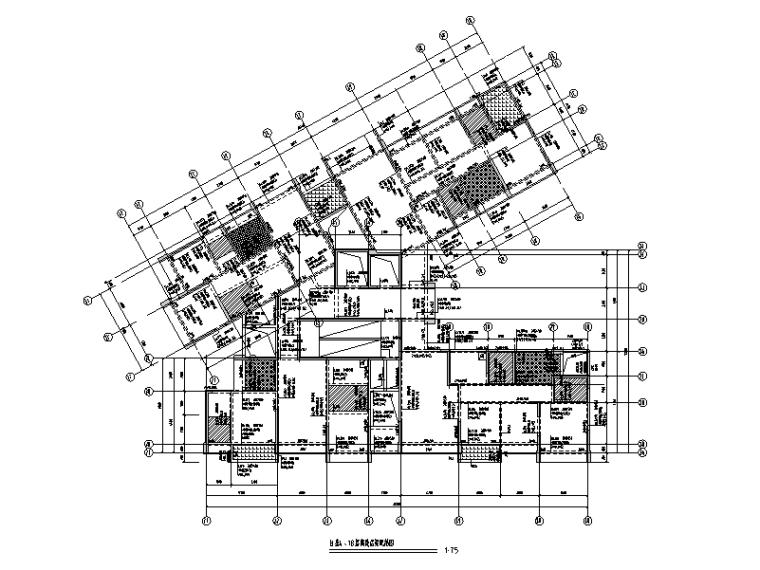 部分框支剪力墙商住楼建筑结构施工图(2016)