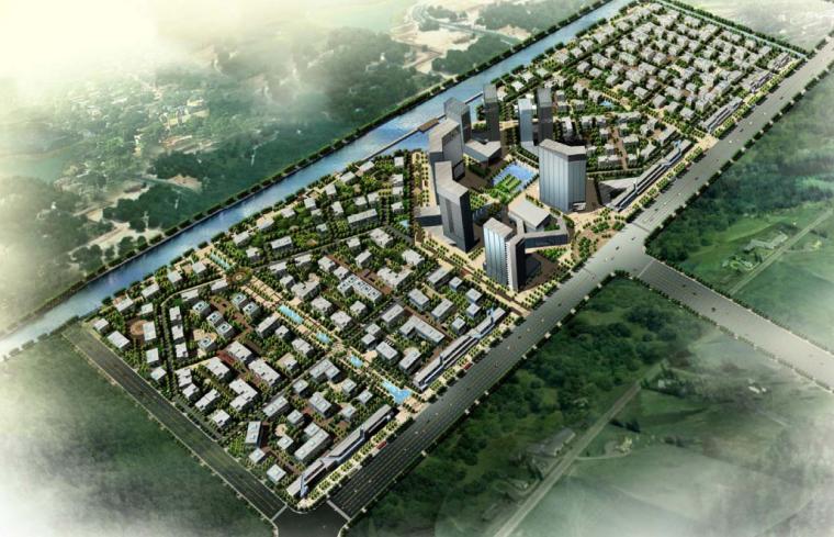 [上海]车墩总部基地办公园区建筑方案文本