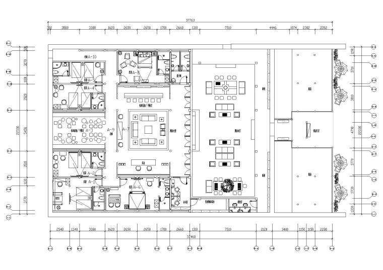 [福建]筑巢空间-泉州安民客栈施工图+效果图
