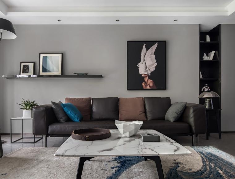 那些植物适合在室内养资料下载-室内高级灰风格住宅设计案例44套(2)
