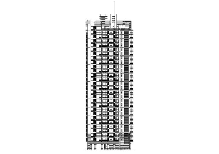 [广东]海滨底商高层复式住宅楼建筑施工图