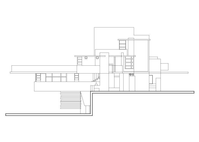 赖特流水别墅建筑施工图(CAD)