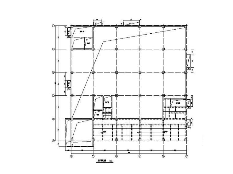 多层钢混框架结构医用车间建筑结构施工图