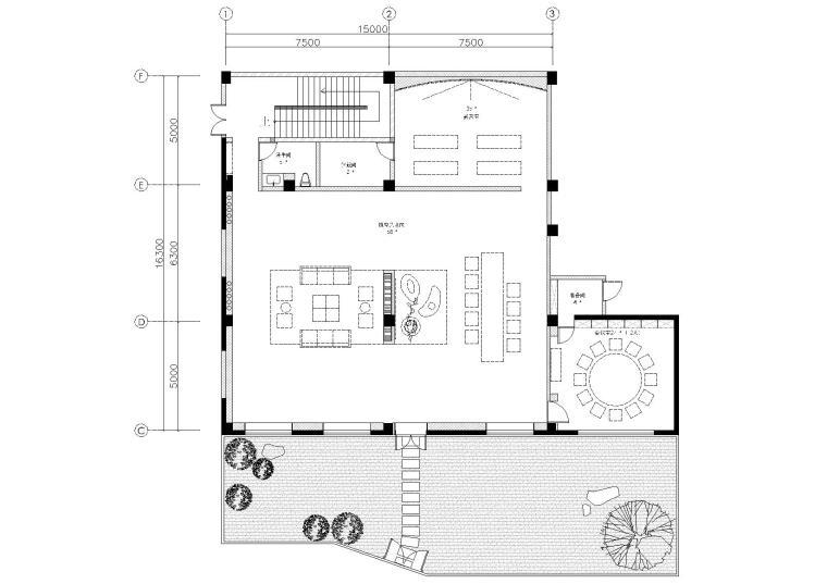[上海]朱周-吴中路茶艺术空间施工图+效果图