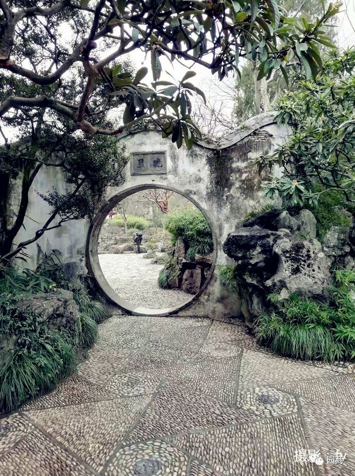 古典园林卵石铺装