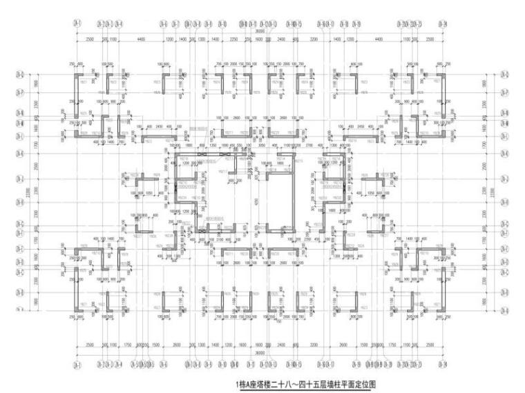部分框支-剪力墙超高层住宅楼结构施工图