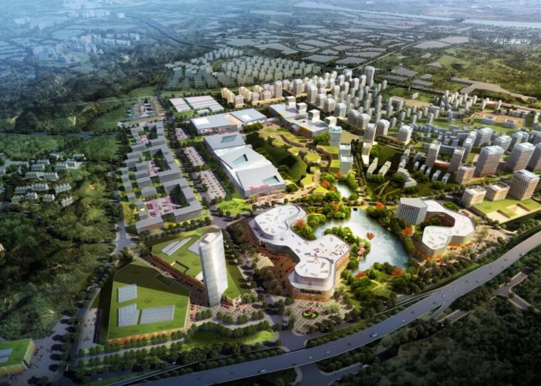 [湖南]株洲航空/服装城产业园区建筑方案图