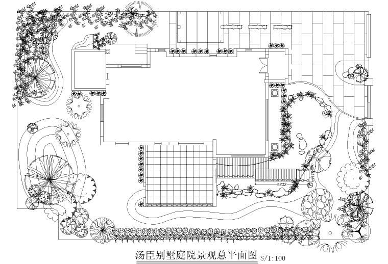 汤臣别墅庭院景观设计CAD施工图